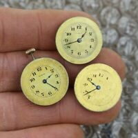 3 vintage antique Lady Elgin 15 jewels Brass dial Pocket Watch parts repair