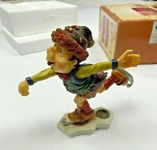 Laaf Collection 1999 Figurine Lintje Action Ice Skating Gnome Magical Mythical