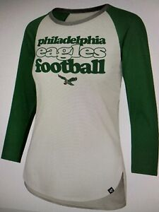 Philadelphia Eagles NFL Women's '47 Retro Stock Throwback Raglan Shirt