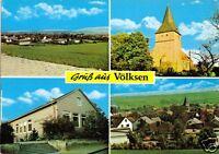 AK, Völksen, vier Abb., u.a. Schule und Kirche, um 1984