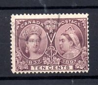 Canada 1897 10c Jubilee good used SG131 WS21076