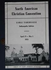 1955 Indianapolis,Indiana Cadle Tabernacle American Christian Convention Program
