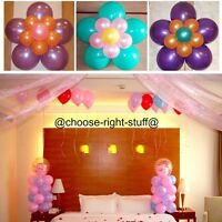 50-100 METALLIC/Pearl Quality LATEX BALLOONS Decoration Birthday Baloon Party