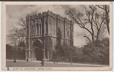 Bury St. Edmunds Abbey Gate Postcard Vintage