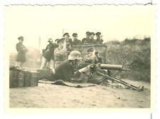 German Soldiers firing an MG08 machine gun, Original Photo