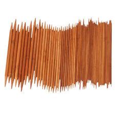 75pcs Set Craft Double Sizes Knitting Pointed Long Needles Durable Bamboo 20cm