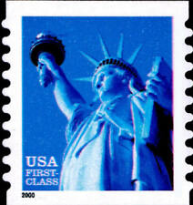 2000 34c Statue of Liberty, Coil, SA Scott 3453b Mint F/VF NH