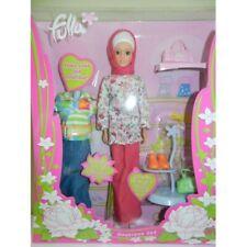 Fulla Doll Set Pink 2 Outfits Girl's Ramadan Gift Sixteen Pieces Girl's Eid Gift