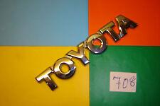 GENUINE TOYOTA MR2, PRIUS, CELICA,PLASTIC CHROME REAR BADGE EMBLEM.