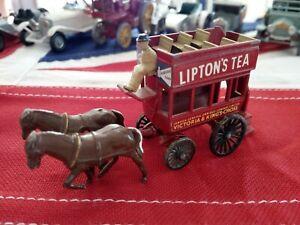 Matchbox Lesney #12 Lipton's Tea Bus & horse