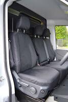 Mercedes Sprinter Black Waterproof Van Seat Covers 2017+ Black 900D Fabric