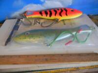 PAIR OF NEW BRAID  PREDATOR  MARAUDERS BIG GAME FISHING LURES-11 INCH