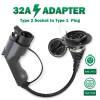 EV Charger Adapter Type2 to Type1 32A Electric Car Charging Cable 1Phase EVSE
