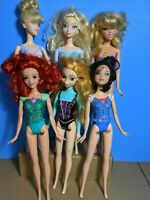 Pre-Owned Disney Princess Doll Lot of 6 Molded Bodices for ooak art project play