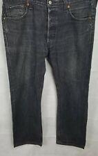 Levi Strauss 501 para hombre Jeans, W36 L30, Negro, Buen Estado