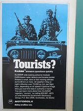 1/1983 PUB MOTOROLA ELECTRONICS JEEP AIRBORNE MULTIMISSION RADAR SLAMMR AD