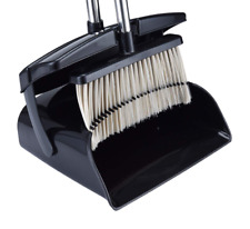Dustpan and Broom Set Home Kitchen Clean Dust Pan Upright Stand Up with Handle
