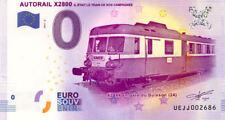 19 DONZENAC Autorail X2800, 2017, Billet 0 € Souvenir