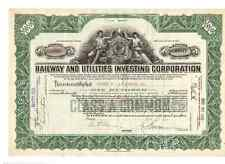 Railway and Utilities Investing Corporation  1929