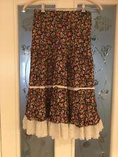 Ladies Clothes Size Medium Zara Summer Skirt Floral Lace Trim (94)