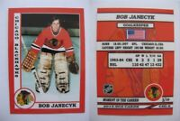 2015 SCA Bob Janecyk Chicago Blackhawks goalie never issued produced #d/10 rare