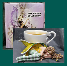 Amy Brown Faery CHAMOMILE RELAX Fairy in TEA CUP Figurine Statue  #10536