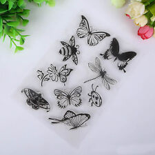 Cards Craft Scrapbooking Rubber Stamp Butterfly And Bee Transparent Clear
