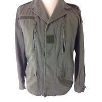 F2 Army Jacket Military Bomber Combat Olive Khaki Cotton UNISEX Genuine Vintage