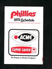 Philadelphia Phillies--1979 Pocket Schedule--Acme