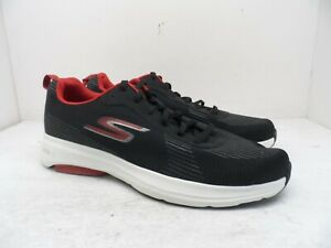 Skechers Men's GoRUN Ultra Go Lace Up Athletic Casual Shoe Black/Red Size 12M