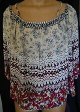 Size 3X (fit like XL/0X) elastic off shoulder lightweight long sleeve top. NWT