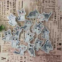 Cute Black White Cat Animal Decorating Badges Cartoon Badges Acrylic Pins Brooch