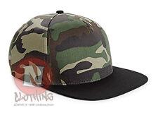 Beechfield gorra estilo camuflaje ajustable ejército militar visera plana urban