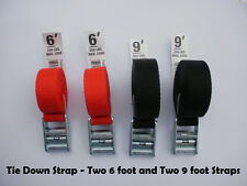 Tie Down and Cargo Straps – Two 6' & Two 9' Tie Down Straps