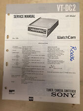 Sony Service Manual for the VT-DC2 WatchCam Tuner Camera Switcher ~ Repair mp