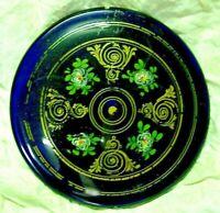 Une lentille de balancier horloge Comtoise clock uhr verre opalin bleu pendule 2