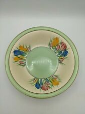 More details for art deco clarice cliff spring crocus large hand painted fruit bowl c1933