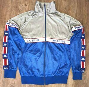 Kappa USA Team rare vintage taped sleeve tracksuit track Jacket size 48 (S-M)