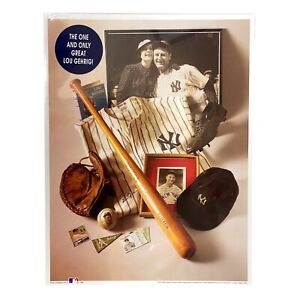 """Lou Gehrig """"The Iron Horse"""" First Edition Montage Print - New, Sealed"""