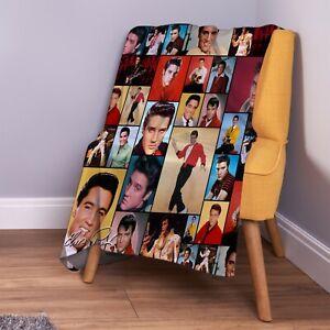 Elvis Presley Colour Montage Soft Fleece Throw Blanket