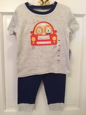 Sweet 'Happi' 2-Pc Baby/Toddler Outfit Lion/Car Monogram Pants & Top 2 Szs Avail