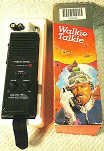 Vintage Realistic TRC 218 2-Watt 3-Channel Walkie Talkie Stranger Things in Box