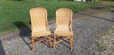 Paire de Chaises Vintage en Rotin et Osier