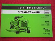 1985 DEUTZ ALLIS T118 & T816 LAWN & GARDEN TRACTOR OPERATORS MANUAL