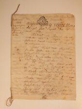 Ancien acte notarié, acquêt par licitation de 1777 - Larchamps, Mayenne