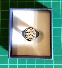 Men's Signet Ring Three Lions Solid Sterling Silver Gents Full British Hallmark