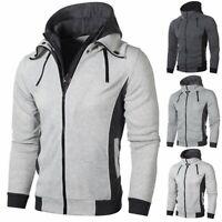 Men Winter Hoodie Warm Hooded Sweatshirt Jacket Outwear Sweater Coat Tops