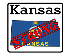 Kansas State (K17) Strong Flag Vinyl Decal Sticker Car/Truck Laptop/Netbook Wind