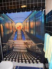 Artists Interpretation Redrawn  NYC Palladium Steps Nightclub Shower Curtain