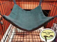 Cosy large hammock ferret,rat,chinchilla,degu. Small Pets . Dark green